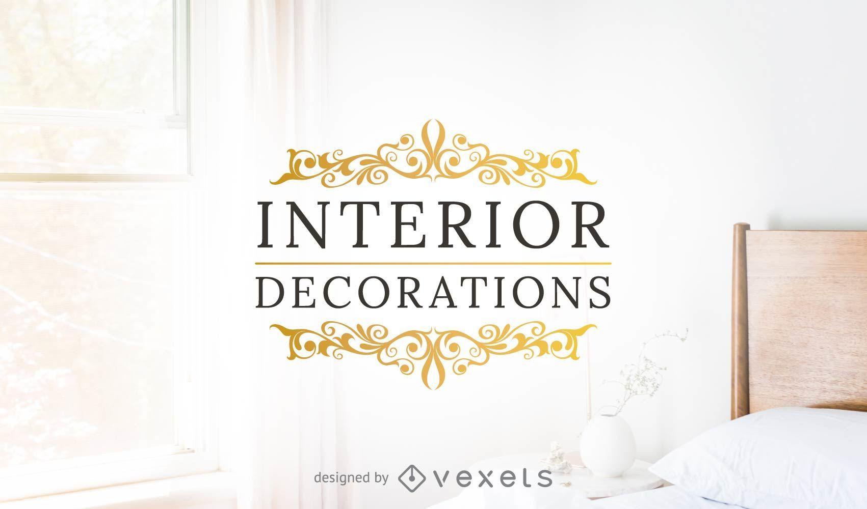 Plantilla de logotipo de decoración de interiores