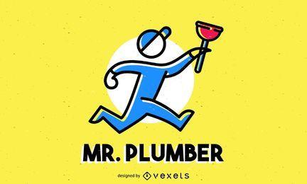 Klempner-Logo-Vorlage