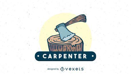 Modelo de logotipo de carpinteiro