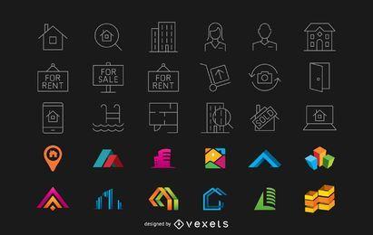 Conjunto de elementos imobiliários