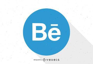 Plantilla de logotipo Behance