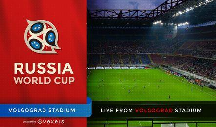 Tela de tv do campeonato do mundo de futebol