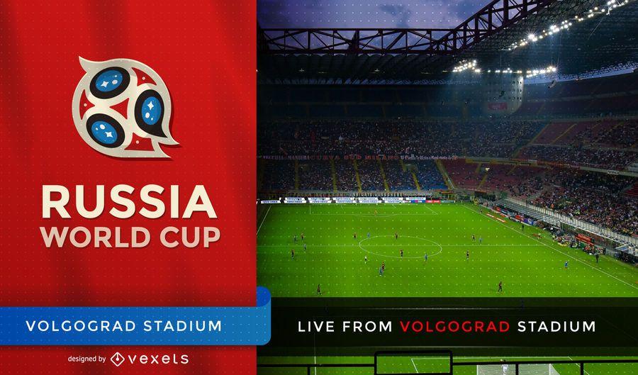 Football world cup tv screen