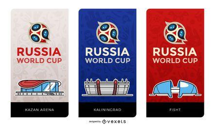 Banners de estádios de futebol na Rússia