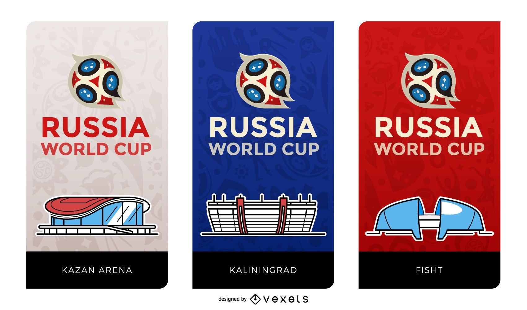 Russia football stadiums banners