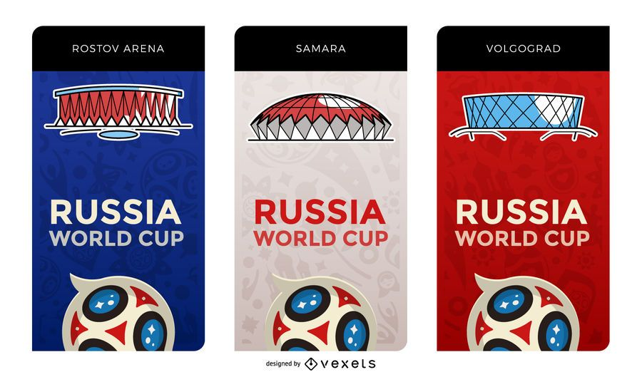 Russia 2018 host stadium banners