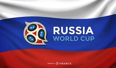Fundo da bandeira da Copa do mundo de Rússia