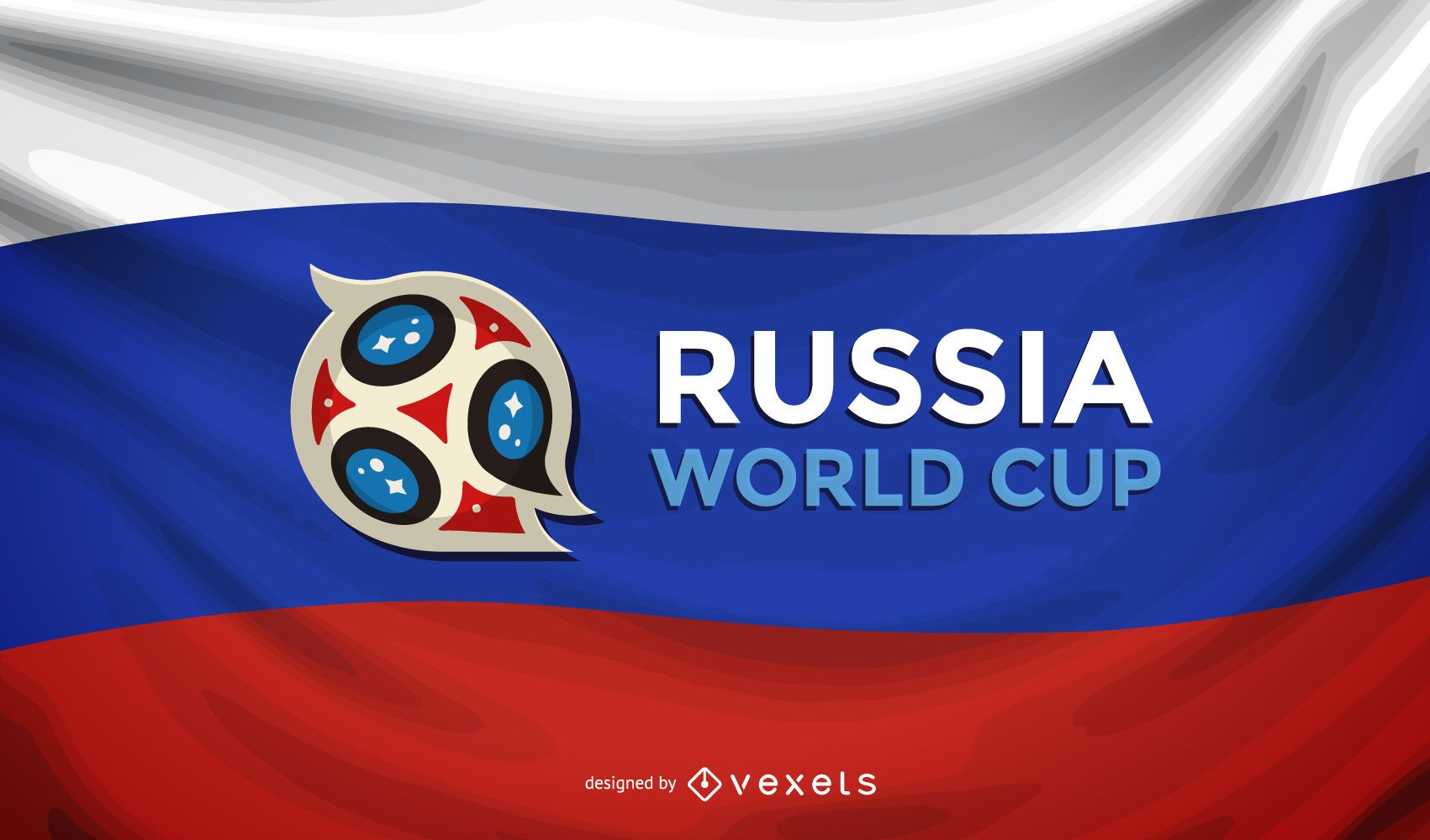 Russia world cup flag background