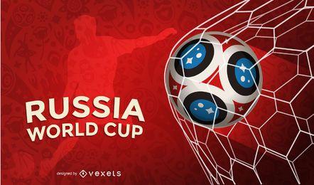Fondo de gol de la Copa del mundo de Rusia