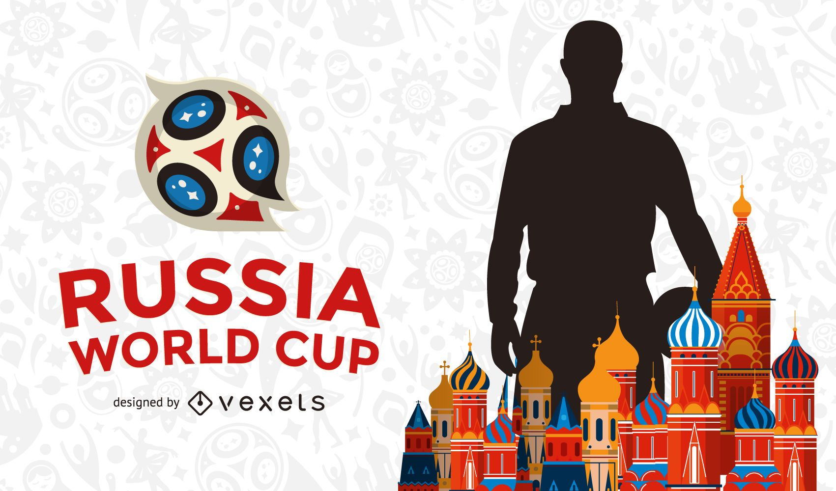 Russia 2018 soccer background