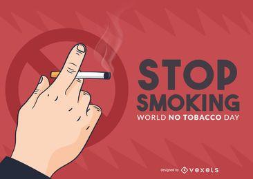 Pare de fumar ilustração