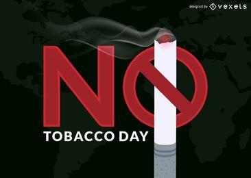 Nenhuma ilustração do dia do tabaco