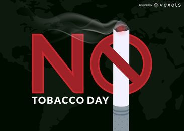 No tobacco day illustration