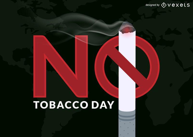 No tobacco day illustration
