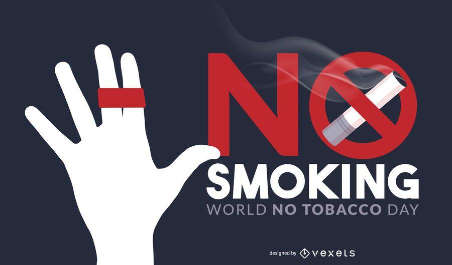 Não fumar dia ilustração