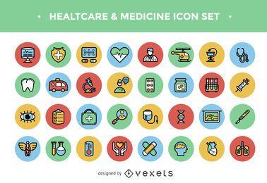 Gesundheitswesen-Icon-Set