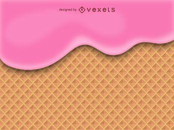 Ilustración de cono de waffle de helado