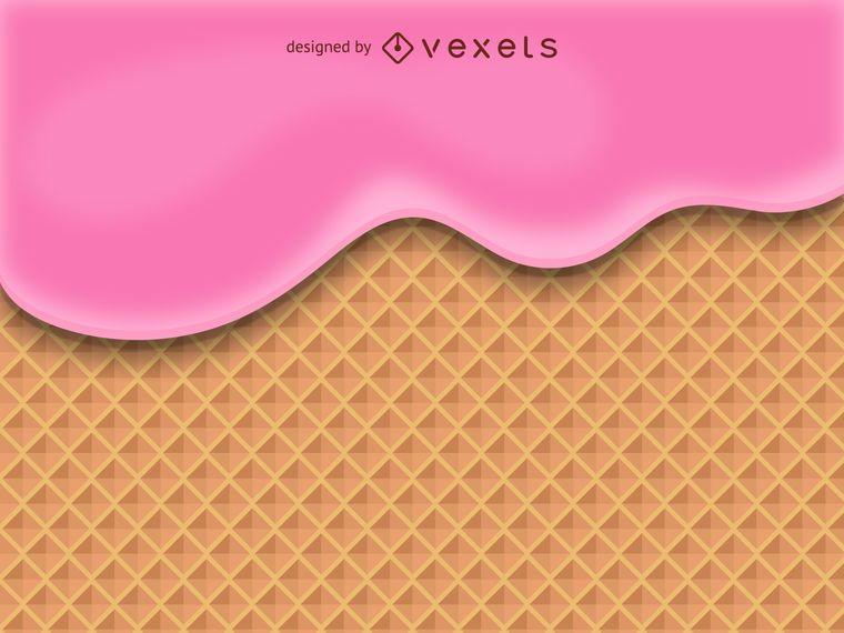 Ice cream waffle cone illustration
