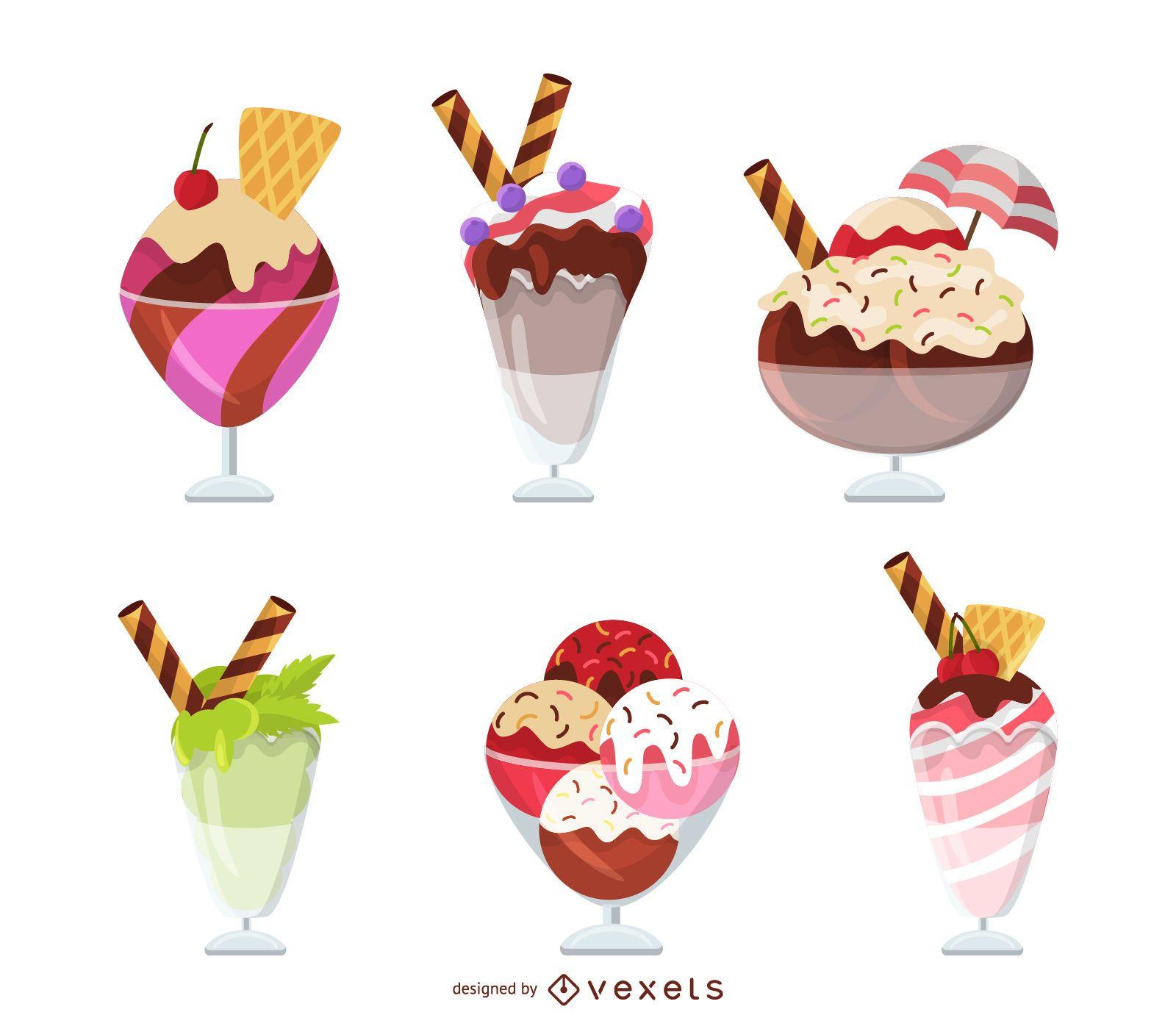 Ice cream sundae set