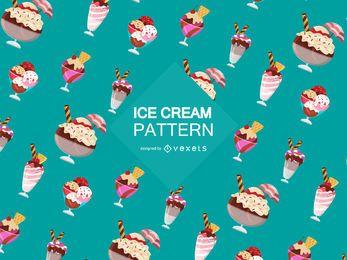 Padrão de sorvete sundae