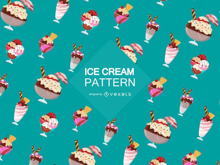 Ice cream sundae pattern