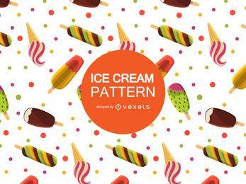 Patrón de helado fresco