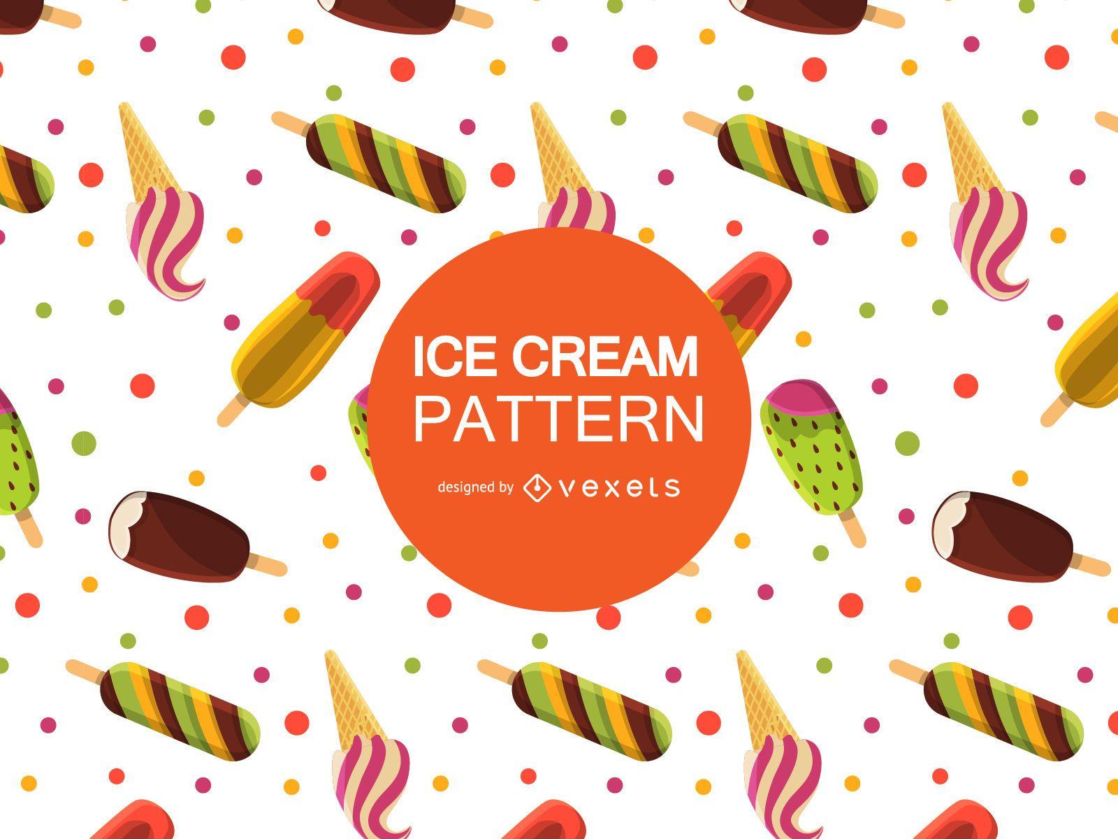 Cool ice cream pattern