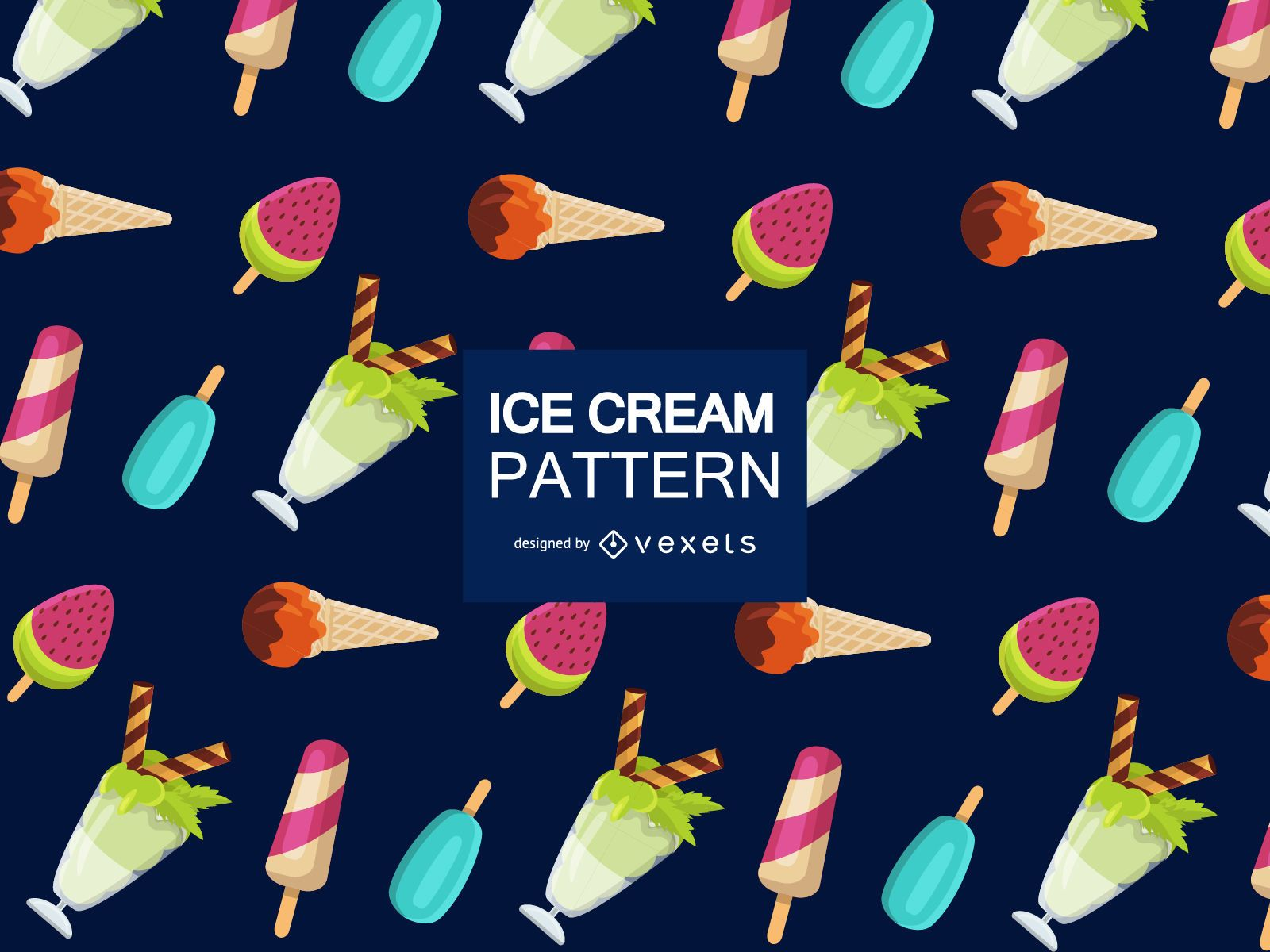 Sweet ice cream pattern