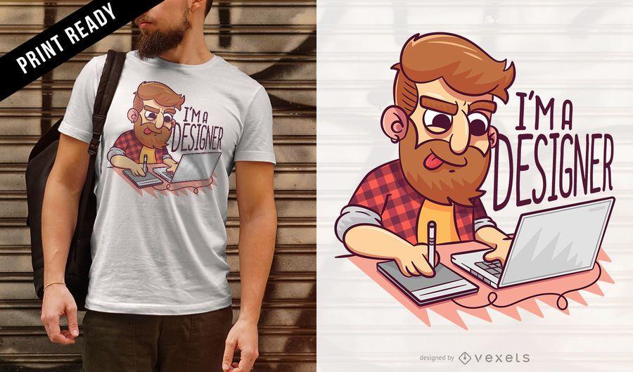 Diseño de camiseta de diseñador.