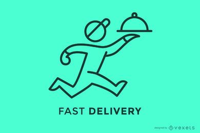 Fast delivery stroke logo template