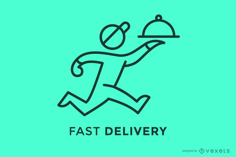 Modelo de logotipo de curso de entrega rápida