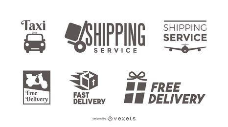 Conjunto de modelos de logotipo de entrega