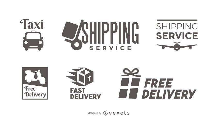 Conjunto de modelo de logotipo de entrega