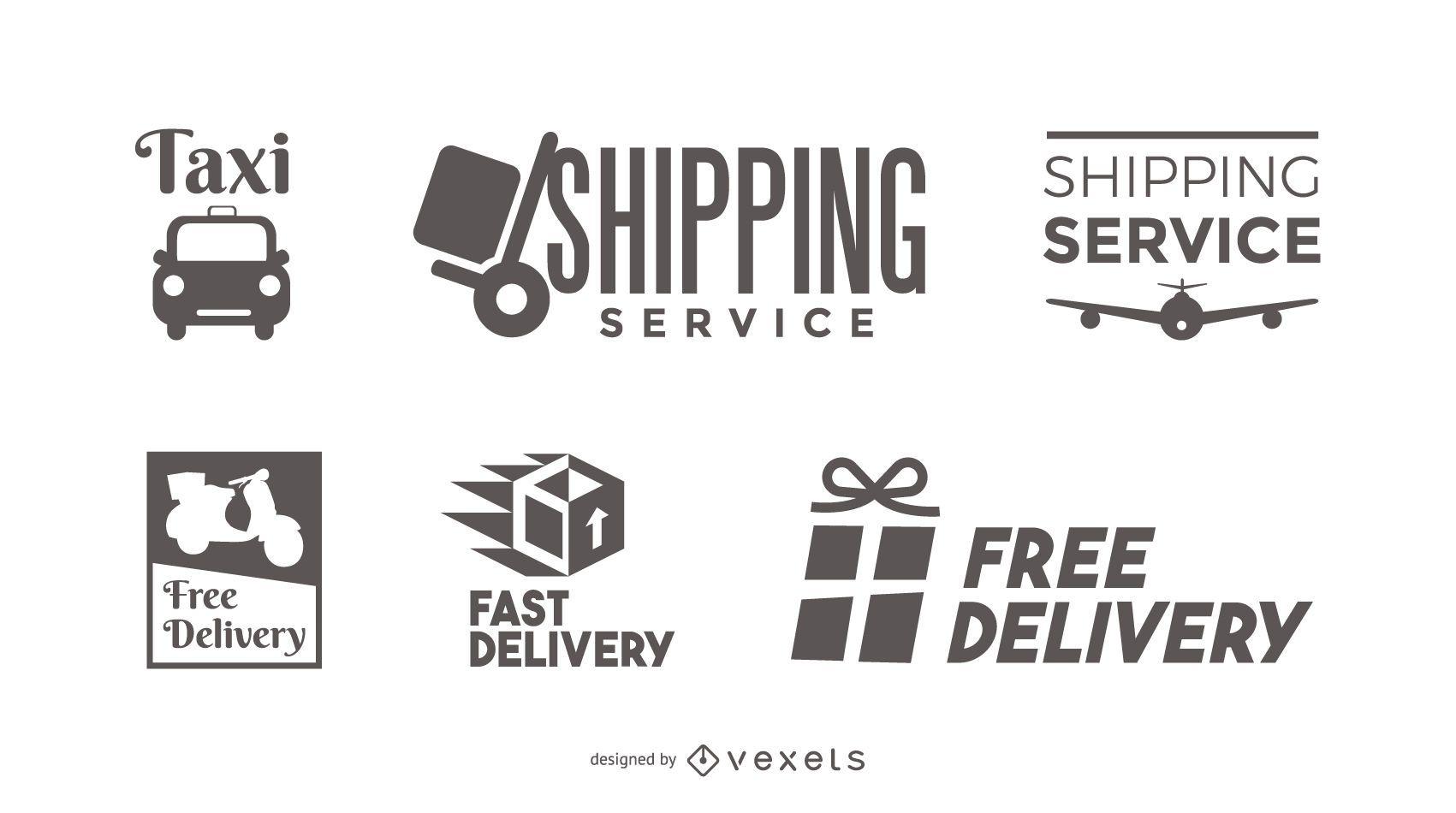 Conjunto de plantillas de logotipo de entrega