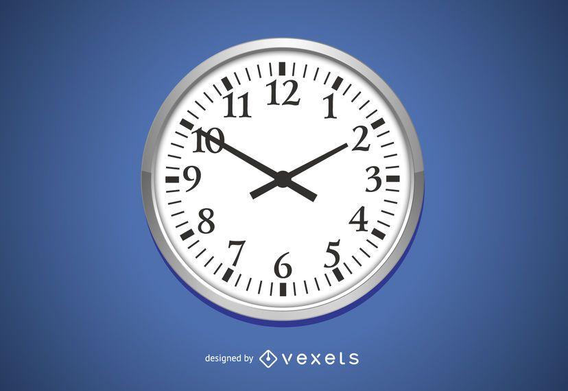 Vector de reloj de pared