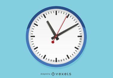 Ilustración de reloj de pared plana