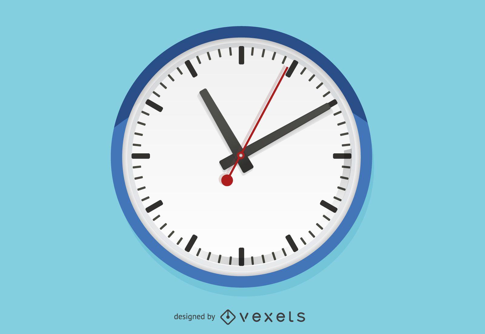 Flat wall clock illustration