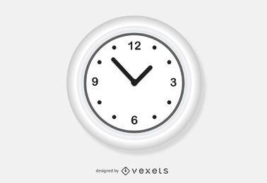 Vetor de relógio de parede branca