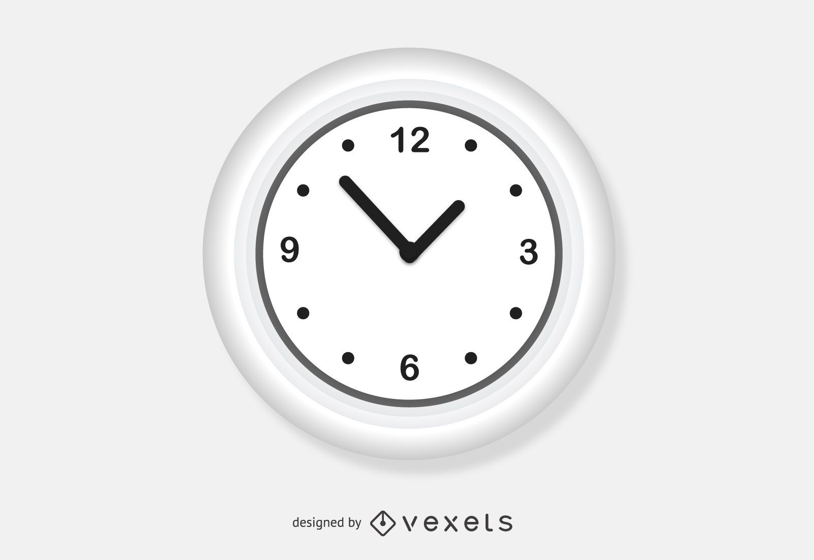 Vector de reloj de pared blanco - Descargar vector