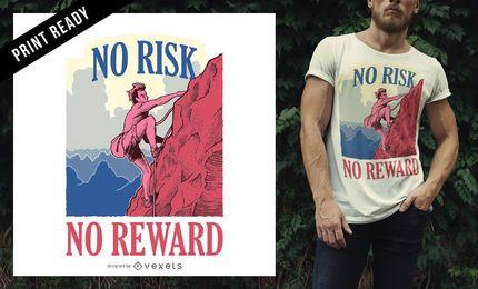 Diseño de camiseta de estilo de vida de aventura de escalador de montaña
