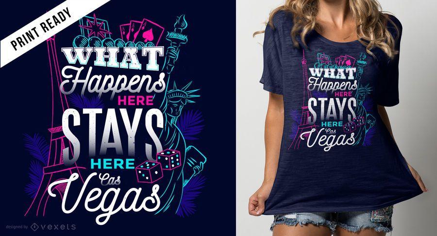 O que acontece no design do t-shirt de Vegas
