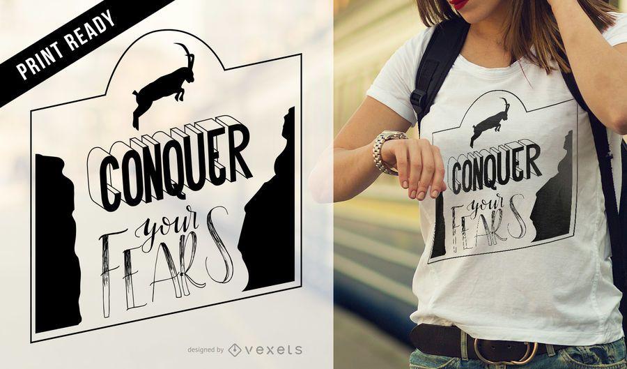 T-shirt inspirado da cabra de montanha