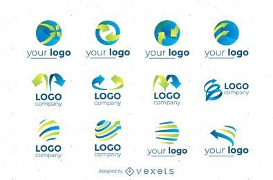 Circular logos set collection