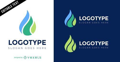 Modelo de design de logotipo de gota d'água
