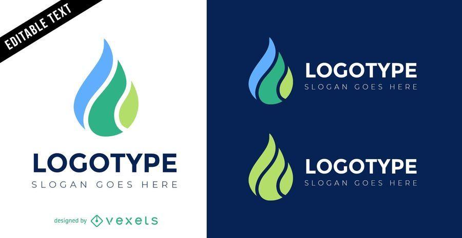 Design de modelo de logotipo de gota de água