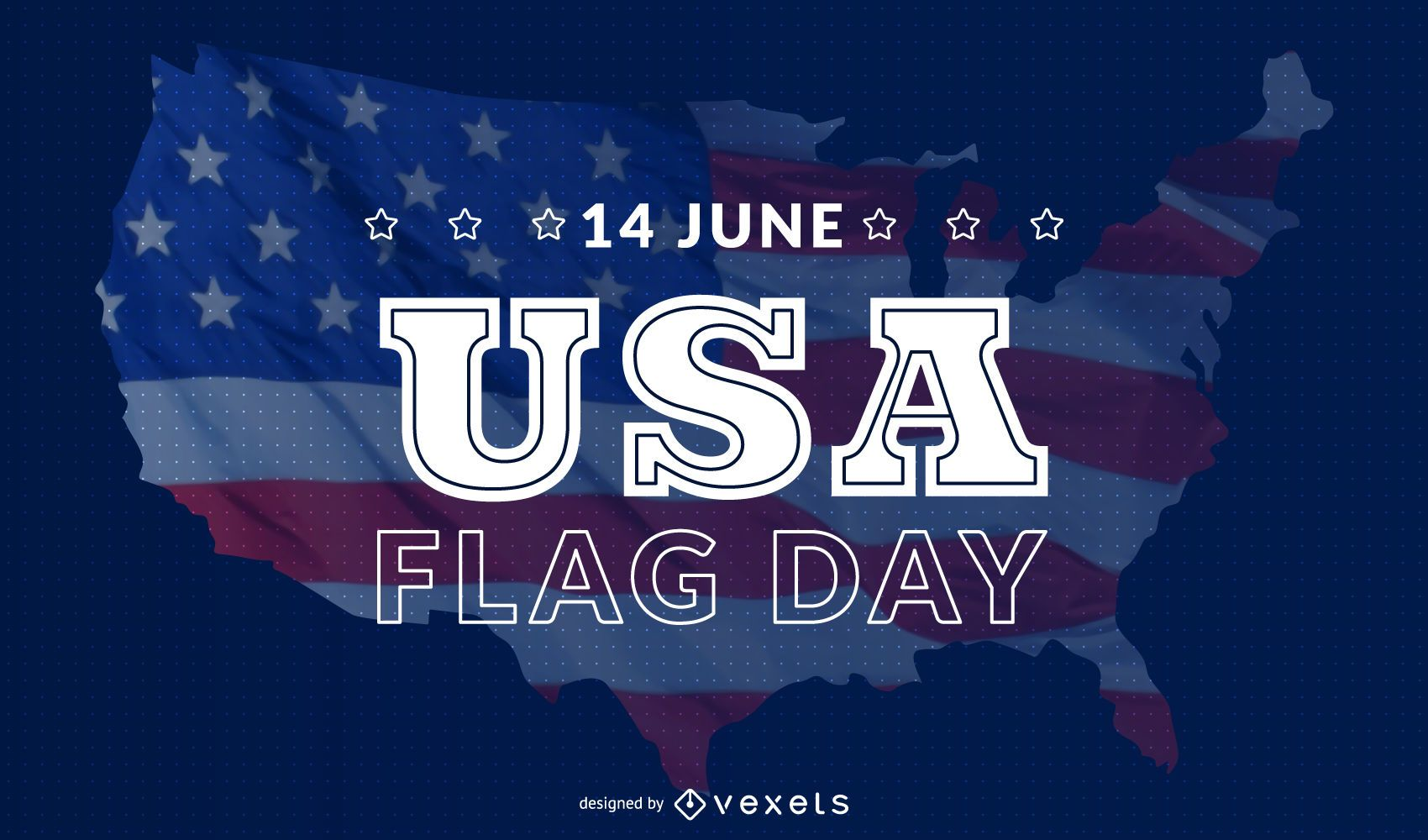 USA flag day background