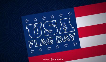 Fundo do dia da bandeira americana
