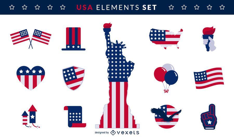 USA-Elemente gesetzt