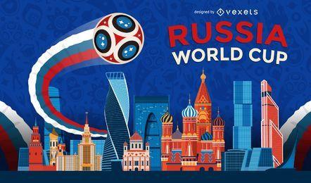 Rusia 2018 Copa del mundo de fondo