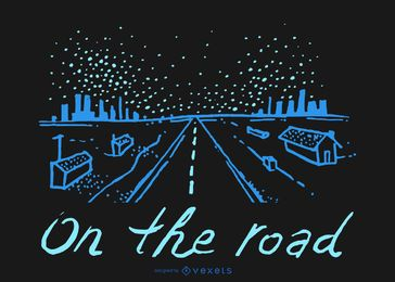 En el doodle de la carretera